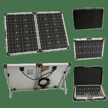 120W 12V Folding Solar Charging Kit For Caravans