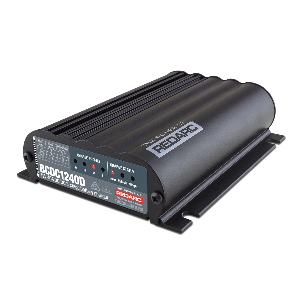 REDARC BCDC1240D DC Battery to Battery Charger 40A (Dual input)