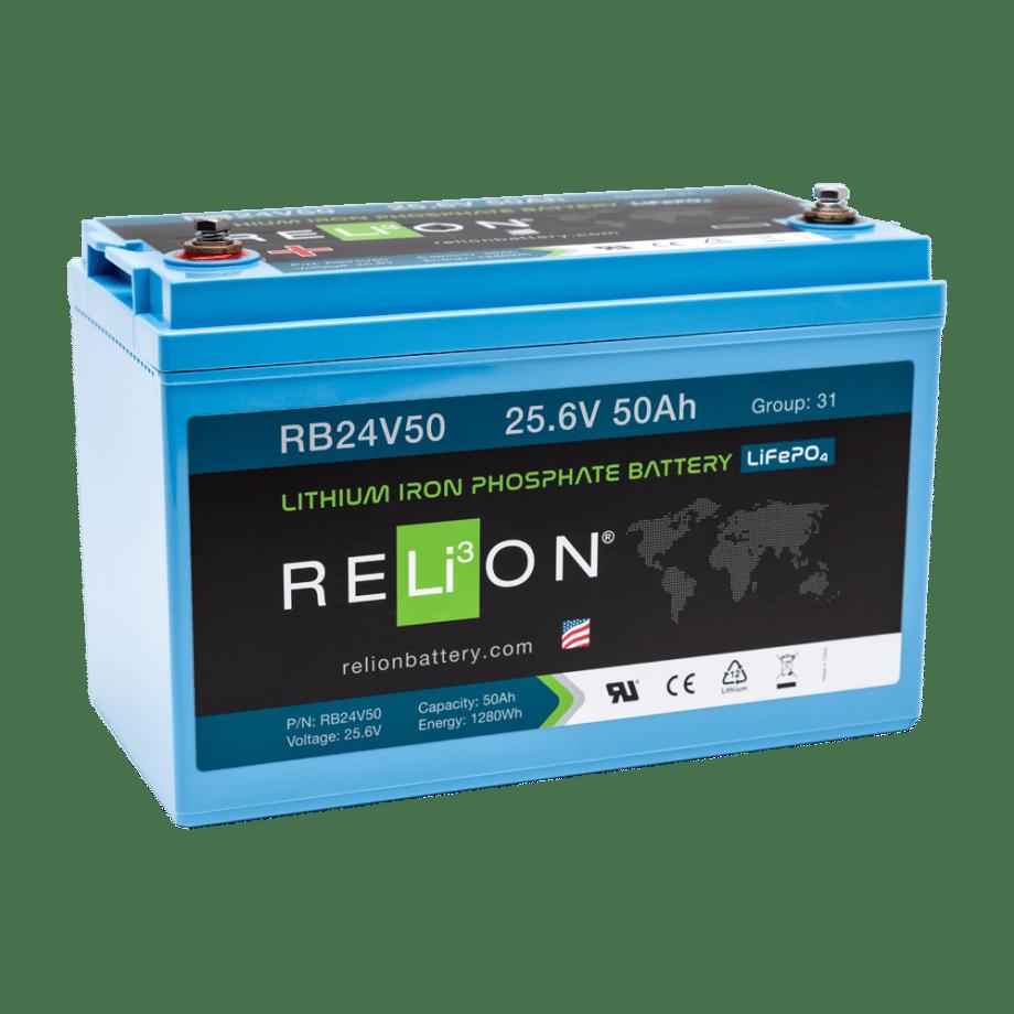 Relion LiFePO4 24V 50Ah (RB24V50)