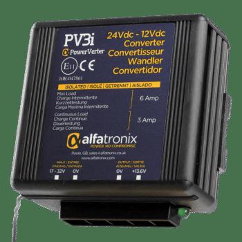 Alfatronix Powerverter PV3i 24V to 12V 3A isolated