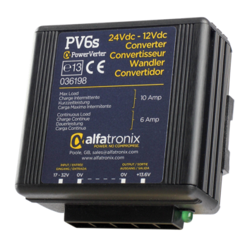 Alfatronix Powerverter PV6S 24V to 12V 6A non isolated
