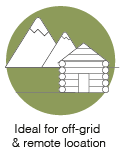 Ideal for off-grid & remote location